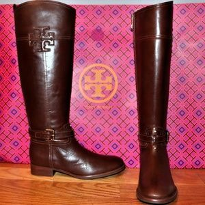Tory Burch Blaire Leather Riding Boot NEW W/O BOX